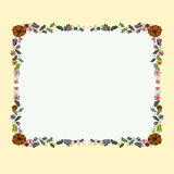 Floral border with butterflies. Illustration with floral decorative frame with butterflies royalty free illustration