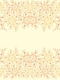 Contoured floral border Stock Photography