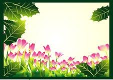 Floral border design Stock Images