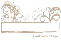 Floral Border Design Royalty Free Stock Photos
