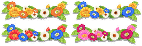 Floral border designs Stock Photography