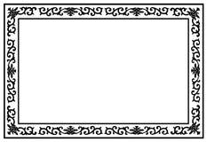 Floral border frame Stock Images