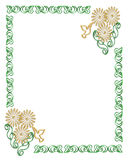 Floral Border Frame Yin Yang Royalty Free Stock Photo