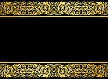Floral border with gilded elements Stock Images