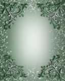 Floral Border green sparkle Stock Image