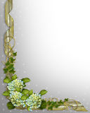 Floral Border invitation Ivy and Hydrangea royalty free stock photo