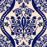 Floral border ornament. Damask seamless pattern Stock Images
