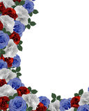 Floral border Patriotic Roses  Stock Image