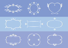Floral Border Pattern Design Collection. For Weddings, Anniversary And Valentines. Vector Illustration Royalty Free Stock Images