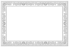 Floral border pattern frame Stock Photography