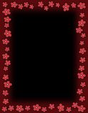 Floral border - Red Stock Photography