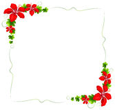 A floral border with red flowers Royalty Free Stock Photo