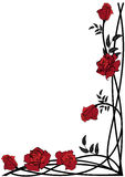 Floral border with roses Royalty Free Stock Images