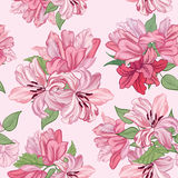 Floral border seamless. Flower bouquet background. Stock Photos