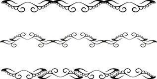 Floral border. Set of floral border pattern Stock Image