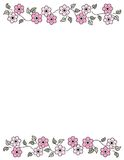 Floral Border - spring and summer Royalty Free Stock Photo