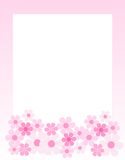 Floral Border - spring and summer Stock Image