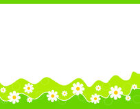 Floral Border - spring and summer Stock Photo