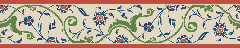 Floral Border Two royalty free illustration