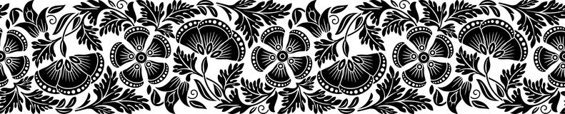 Floral border Stock Image