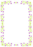 Floral border - vector illustration. Stock Images