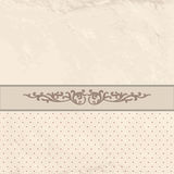 Floral border on vintage background. Old paper texture Stock Photos