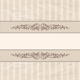 Floral border on vintage background. Old paper texture Royalty Free Stock Photo