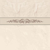 Floral border on vintage background. Old paper texture. Floral border on vintage background. Old paper with patern in retro victorian style. Vector card border Royalty Free Stock Image