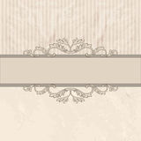 Floral border on vintage background. Old paper texture Royalty Free Stock Image