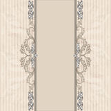 Floral border on vintage background. Old paper texture Royalty Free Stock Photos