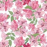 Floral border. Vintage flourish textured background. Floral seamless pattern. Flower background. Floral seamless texture with flowers Stock Image
