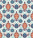 Floral border for your design. Traditional Turkish � Ottoman seamless ornament. Iznik. Vector background stock illustration