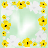 Floral bordered background Royalty Free Stock Photography