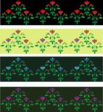 Floral borders Stock Images