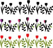 Floral borders Royalty Free Stock Photos