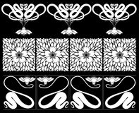 Floral  borders. Stock Photo