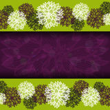 Floral borders with banner Royalty Free Stock Photos
