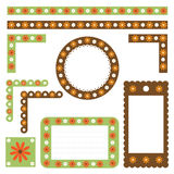 Floral borders and frames. Collection of many floral borders and elements for your design isolated on white background.Useful also for scrapbook.EPS file Royalty Free Stock Photos