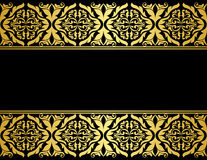 Floral borders with gilded. Embellishments in retro style Royalty Free Stock Photo