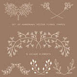 Floral borders Stock Image