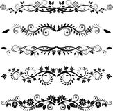 Floral borders and ornaments. Vector set - floral borders and ornaments Royalty Free Stock Photo