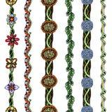 Floral borders set stock illustration