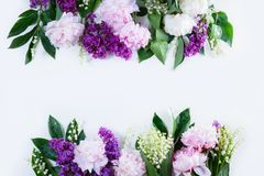 Floral borders on white