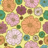 Floral botany pattern Royalty Free Stock Photo