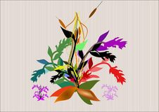 Floral bouquet. Bouquet of flowers on open weave background Stock Image