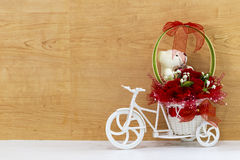 Floral Bouquet on the bicycle Royalty Free Stock Image