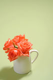 Floral bouquet in cup Royalty Free Stock Images