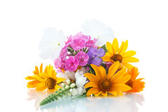 Floral bouquet of different flowers Royalty Free Stock Photos