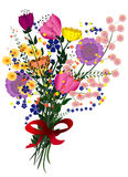 Floral bouquet illustration Stock Photography