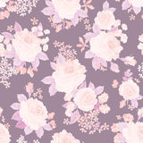 Floral bouquet seamless pattern. Flower posy background. Floral Stock Photo